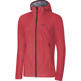 GORE WEAR H5 Windstopper Chaqueta Mujer, hibiscus pink/chestnut red